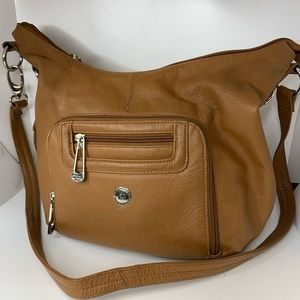 Stone Mountain soft leather pocketed shoulder